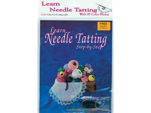 Learn Needle Tatting Step By Step Kit-With #7, #5-0, #3-0 Needles & Threader