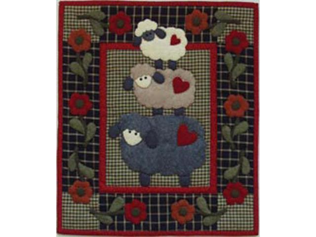 Wooly Sheep Wall Hanging Quilt Kit-13