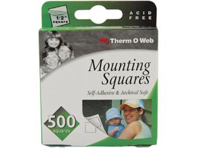 Mounting Squares 500/Pkg-White 1/2