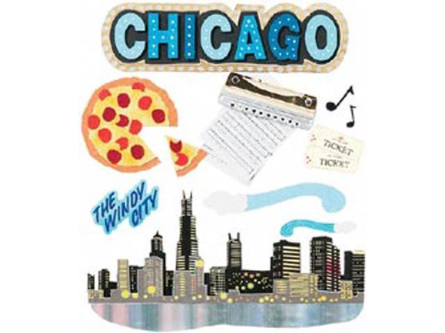 Jolee's Boutique Dimensional Destination Sticker-Chicago