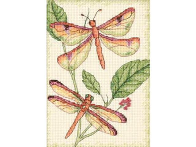Dragonfly Duo Mini Counted Cross Stitch Kit-5