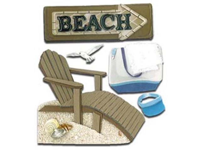 Jolee's Boutique Dimensional Stickers-Beach House