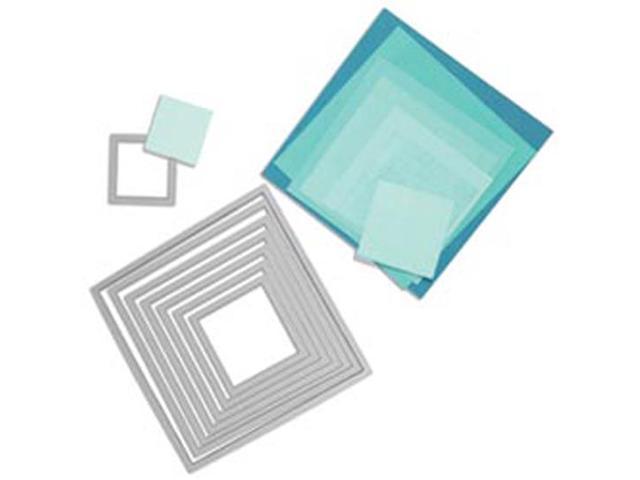 Sizzix Framelits Dies 8/Pkg-Squares