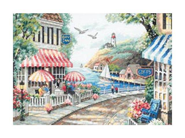 Cafe By The Sea Counted Cross Stitch Kit-14
