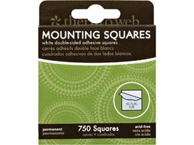 Mounting Squares 750/Pkg-White 1/2