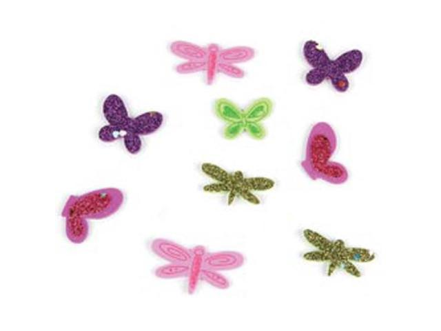 Foam Sticker Confetti-Dragonfly N Butterfly 95/Pkg