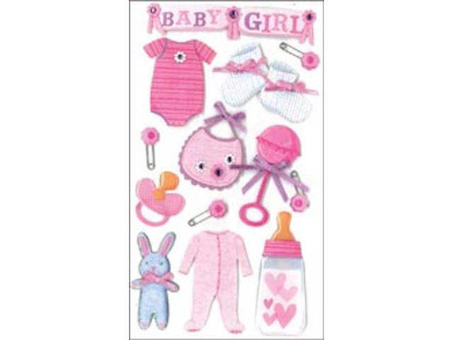 Jolee's Boutique Le Grande Dimensional Stickers-Baby Girl
