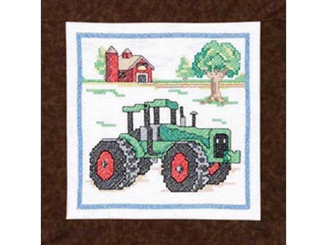 Tractor Quilt Blocks Stamped Cross Stitch-15