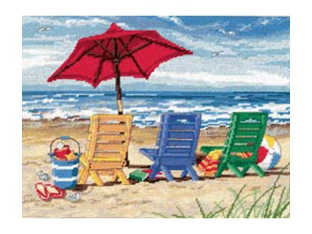Beach Chair Trio Needlepoint Kit-16