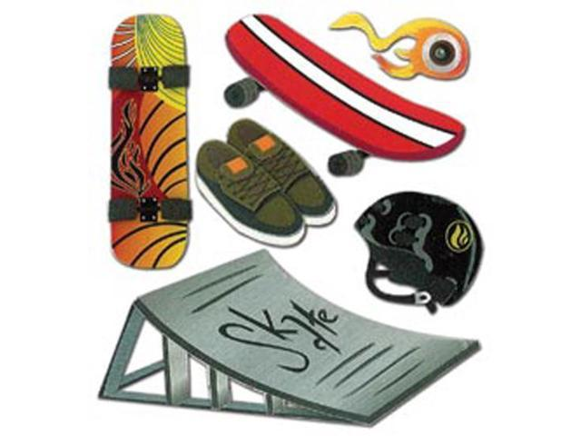 Jolee's Boutique Dimensional Stickers-Skateboard