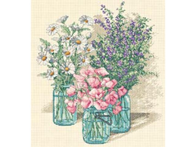 Wildflower Trio Counted Cross Stitch Kit-11