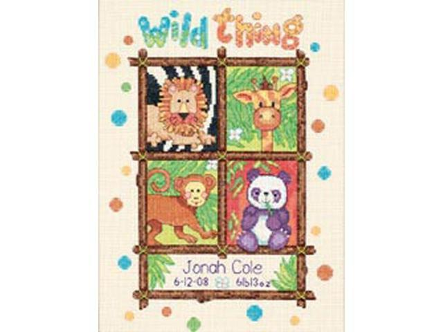 Baby Hugs Wild Thing Birth Record Counted Cross Stitch Kit-9