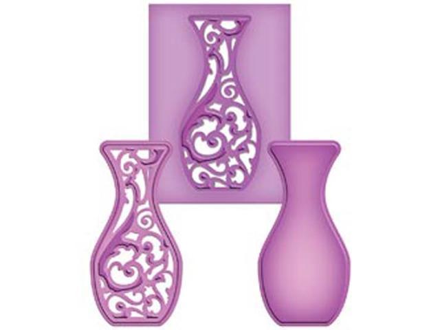 Spellbinders Shapeabilities Die D-Lites-Filigree Vase
