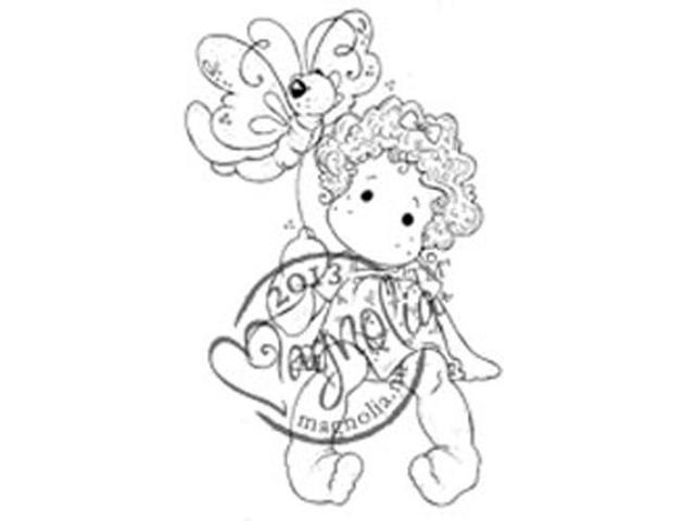 Once Upon A Time Cling Stamp-Sitting Tilda With Butterfly