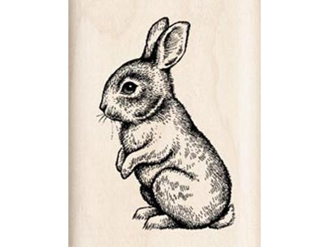 Inkadinkado Wood Mounted Rubber Stamp J-Baby Bunny
