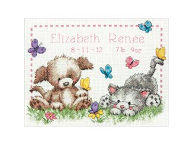 Pet Friends Baby Birth Record Counted Cross Stitch Kit-12