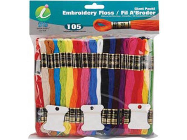 Embroidery Floss Giant Pak 8 Meters 105/Pkg-