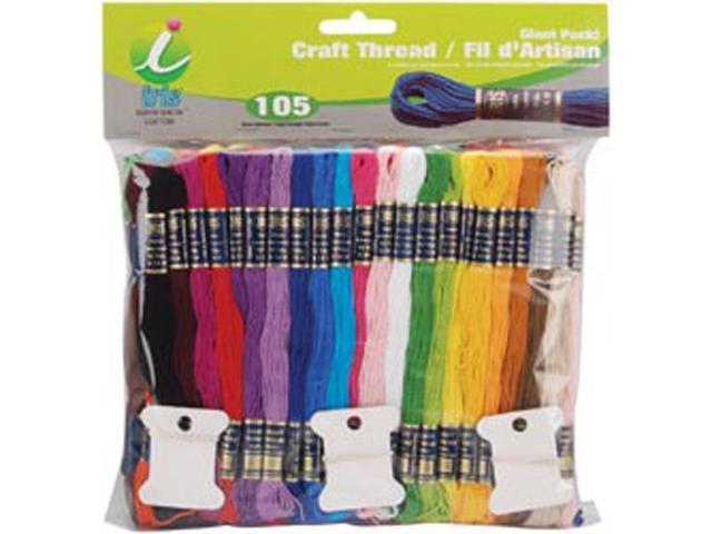 Craft Thread Giant Pak 9.14 Meters 105/Pkg-Assorted Colors