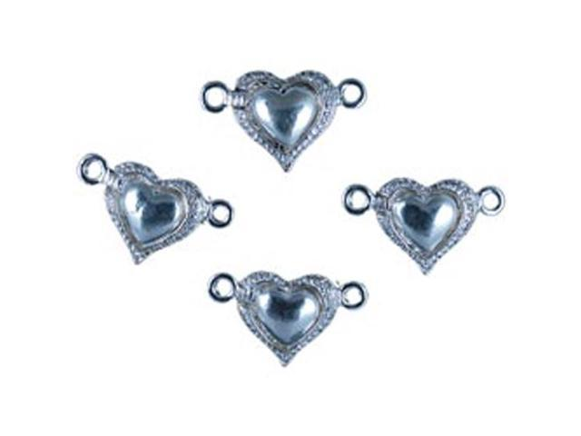 Grand Finale Magnetic And Rhinestone Clasps -Style 2 4/Pkg