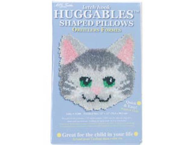 Huggables Kitty Pillow Latch Hook Kit-12
