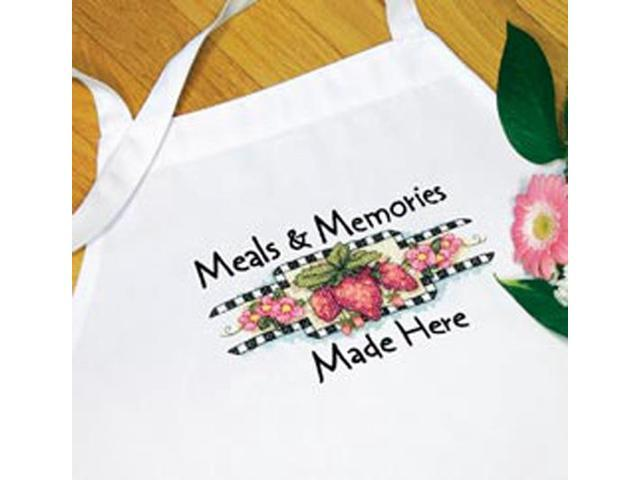 Meals & Memories Apron Stamped Cross Stitch-
