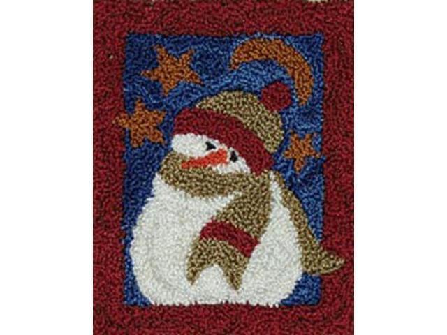 Midnight Snowman Punch Needle Kit-3