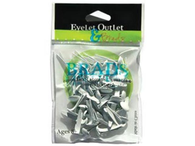 Eyelet Outlet 8mm Brads-White
