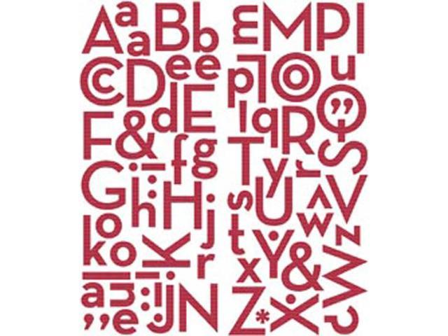 Puffy Alpha Stickers 73/Pkg-Red