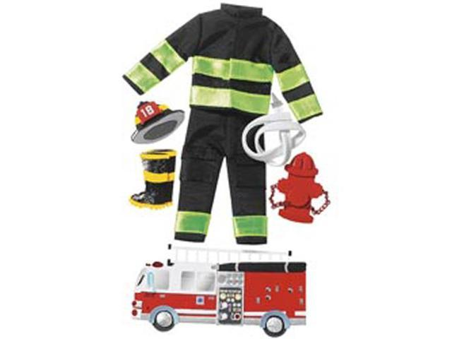 Jolee's Boutique Le Grande Dimensional Sticker-Firefighter