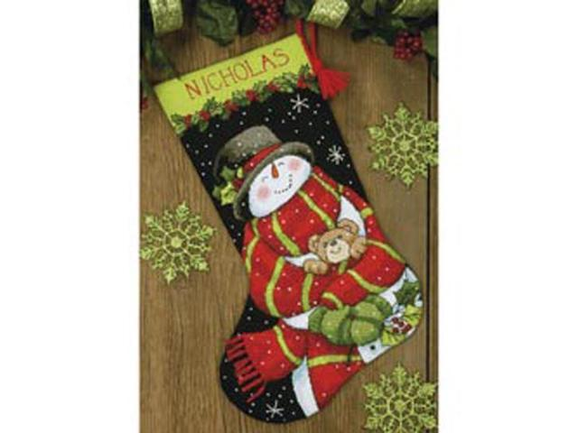Snowman & Bear Stocking Needlepoint Kit-16