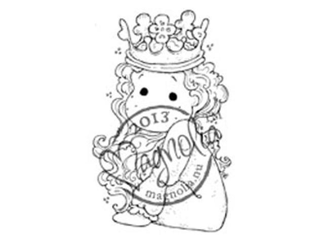 Once Upon A Time Cling Stamp-Little Cute Tilda