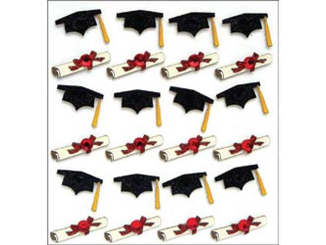 Jolee's Mini Repeats Stickers-Graduation Caps And Diplomas