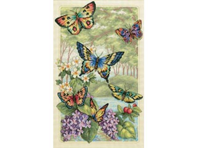 Gold Collection Butterfly Forest Counted Cross Stitch Kit-10