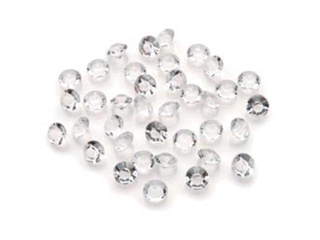 Diamond Ice Gems 8mm/4 Carat 800/Pkg-Clear