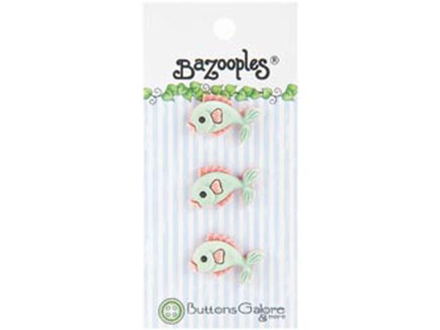 BaZooples Buttons-Green Fish