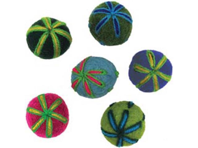 Feltworks Embroidered Balls-3/4