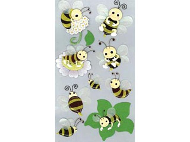 Jolee's Boutique Le Grande Dimensional Stickers-Bumblebees