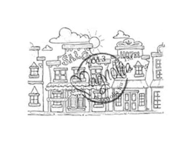 Once Upon A Time Cling Stamp-Golden Creek Background