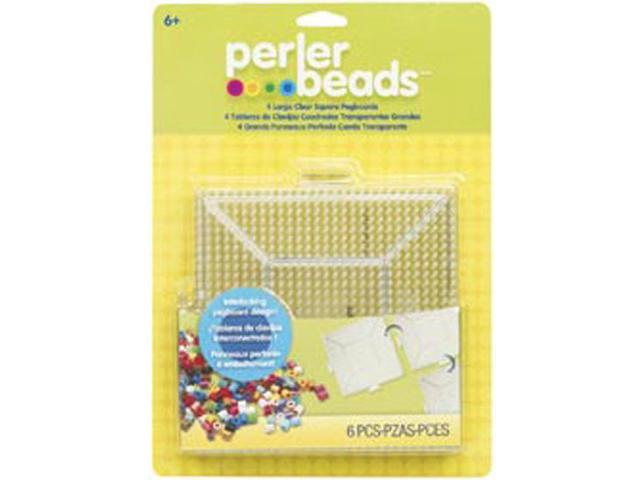 Perler Pegboards 4/Pkg-Large Square Clear