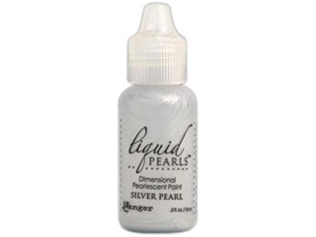 Liquid Pearls Glue .5 Ounce Bottle-Silver Pearl