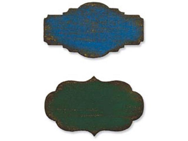 Sizzix Movers & Shapers Magnetic Dies By Tim Holtz 2/Pkg-Mini Labels