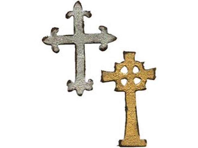 Sizzix Movers & Shapers Magnetic Dies By Tim Holtz 2/Pkg-Mini Ornate Crosses