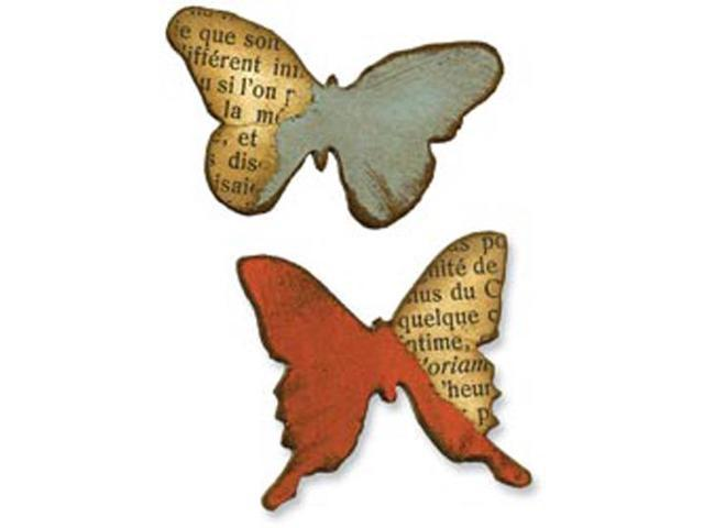 Sizzix Movers & Shapers Magnetic Die Set 2/Pkg By Tim Holtz-Butterflies