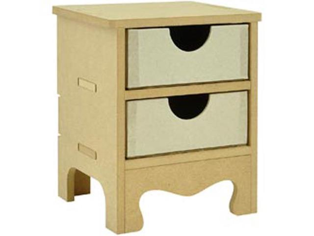 Beyond The Page MDF 2-Drawer Mini Dresser-5