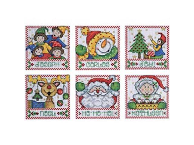 Holiday Tags Counted Cross Stitch Kit-4