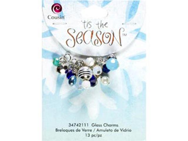 Tis The Season Charms-Blue Drops 13/Pkg