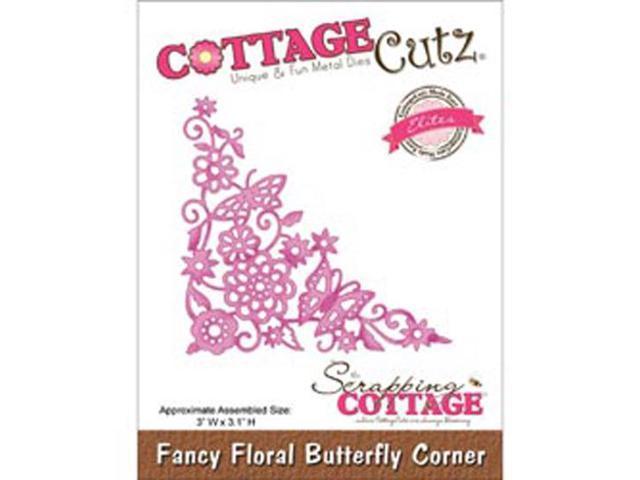 CottageCutz Elites Die-Fancy Floral Butterfly Corner