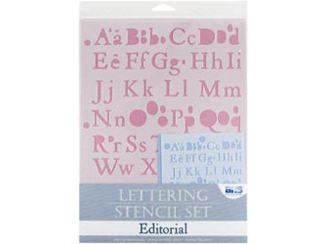 Lettering Stencil 4 Piece Sets-Editorial