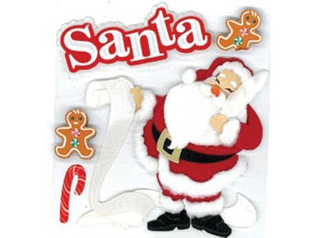 Jolee's Boutique Dimensional Stickers-Classic Santa