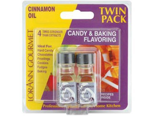 Candy & Baking Flavoring .125oz 2/Pkg-Cinnamon Oil
